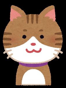 微笑む猫のイラスト