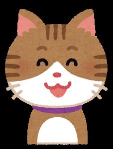 笑う猫のイラスト