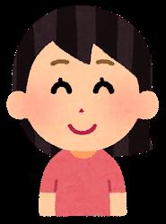 微笑む女性のイラスト