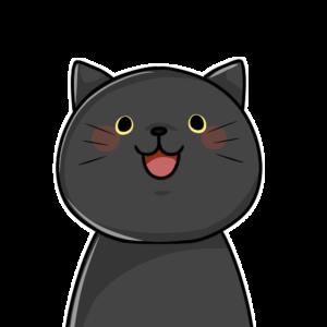 笑顔の黒猫